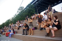 The crowd on Race Street PIer