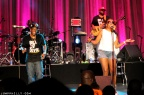 A fan singing with Bell Biv DeVoe