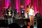 A fan singing with Bell Biv DeVoe