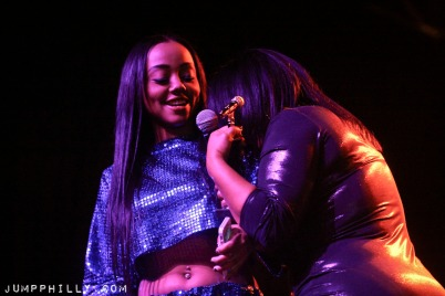 Winner Female Rap Artist of the Year - Asia Sparks with Winner Artist Manager of the Year - Sonji Brooks.